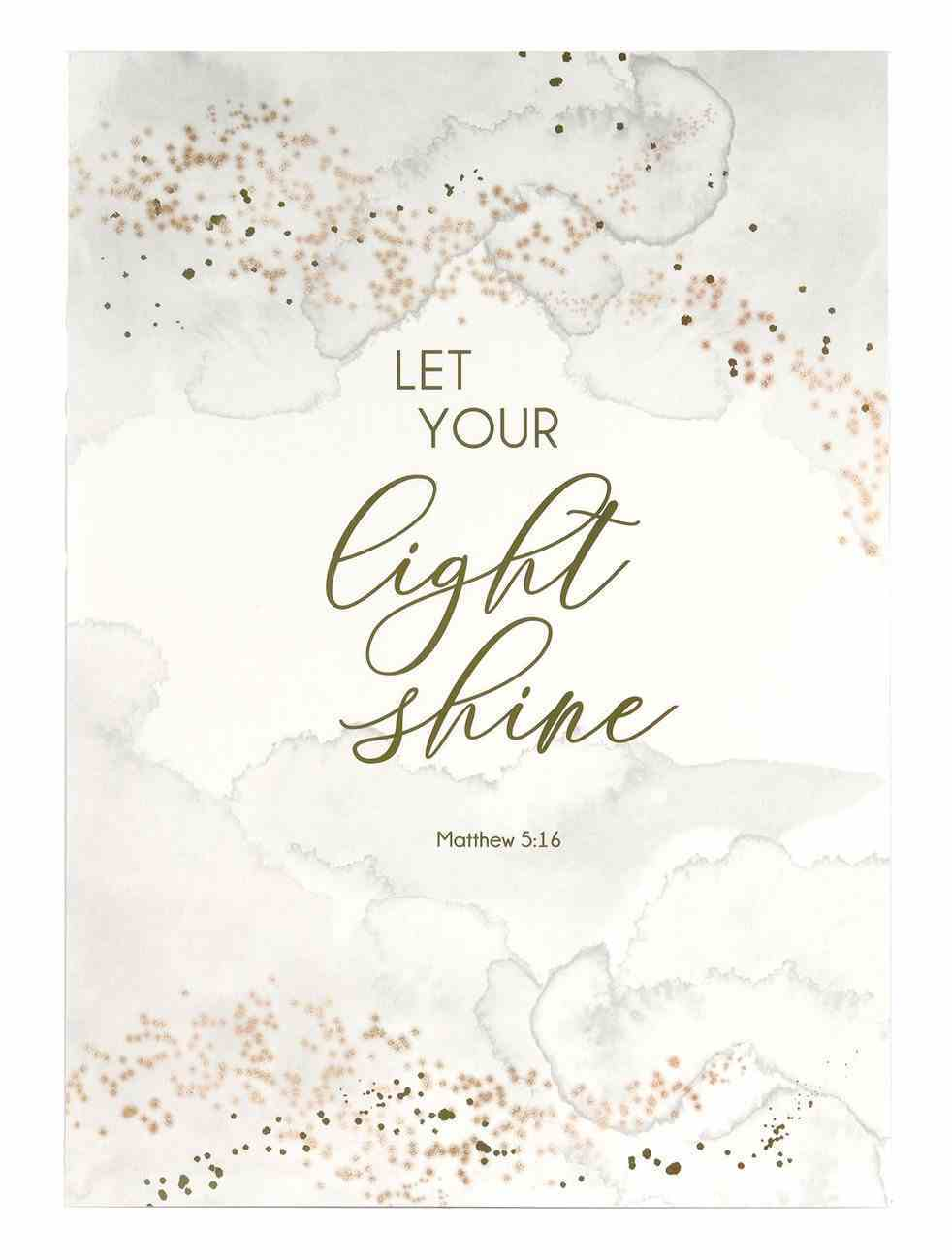 Poster Large: Let Your Light Shine Poster