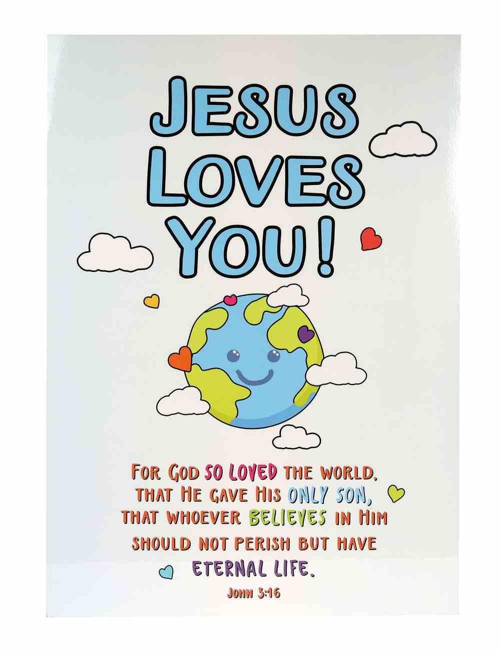 Poster Large: Jesus Loves You! Poster