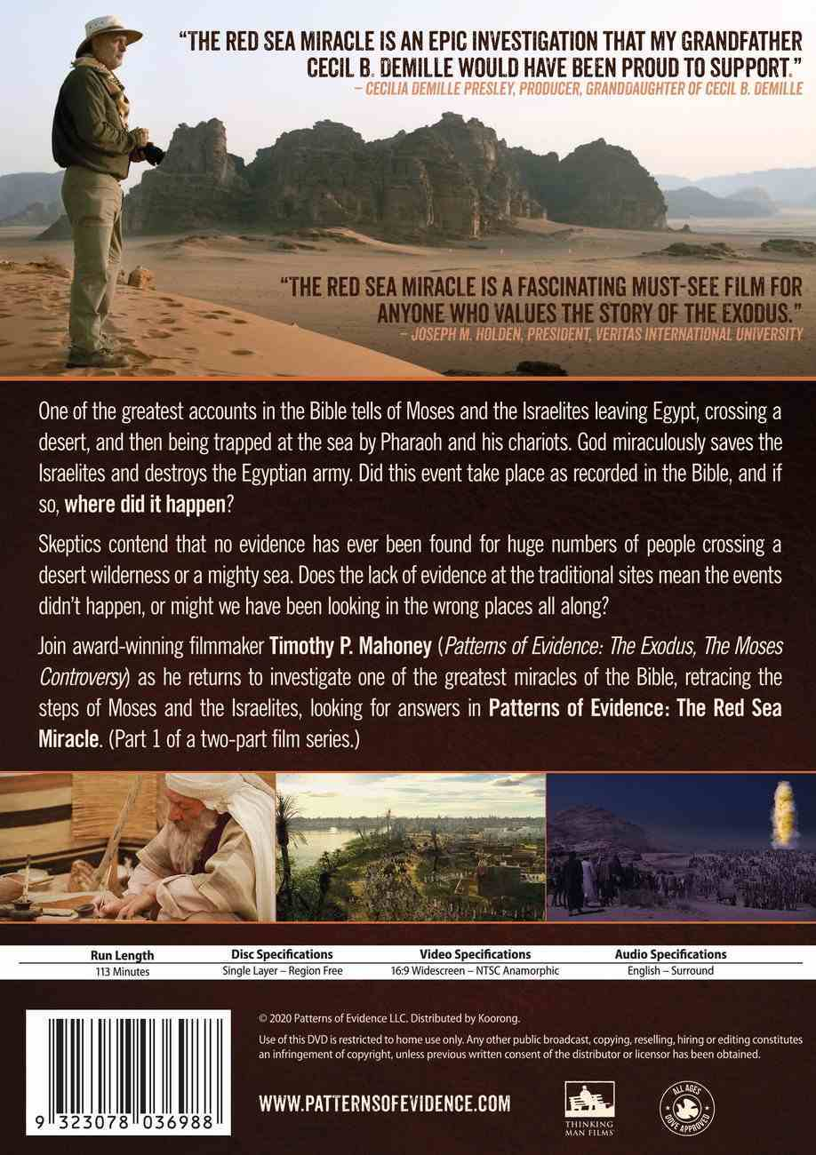 Patterns of Evidence: The Red Sea Miracle DVD