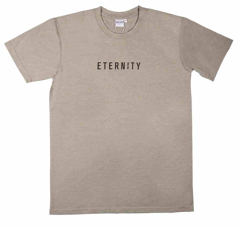 Mens Staple Tee: Eternity, Medium, Light Grey With Black Print (Abide T-shirt Apparel Series) Soft Goods