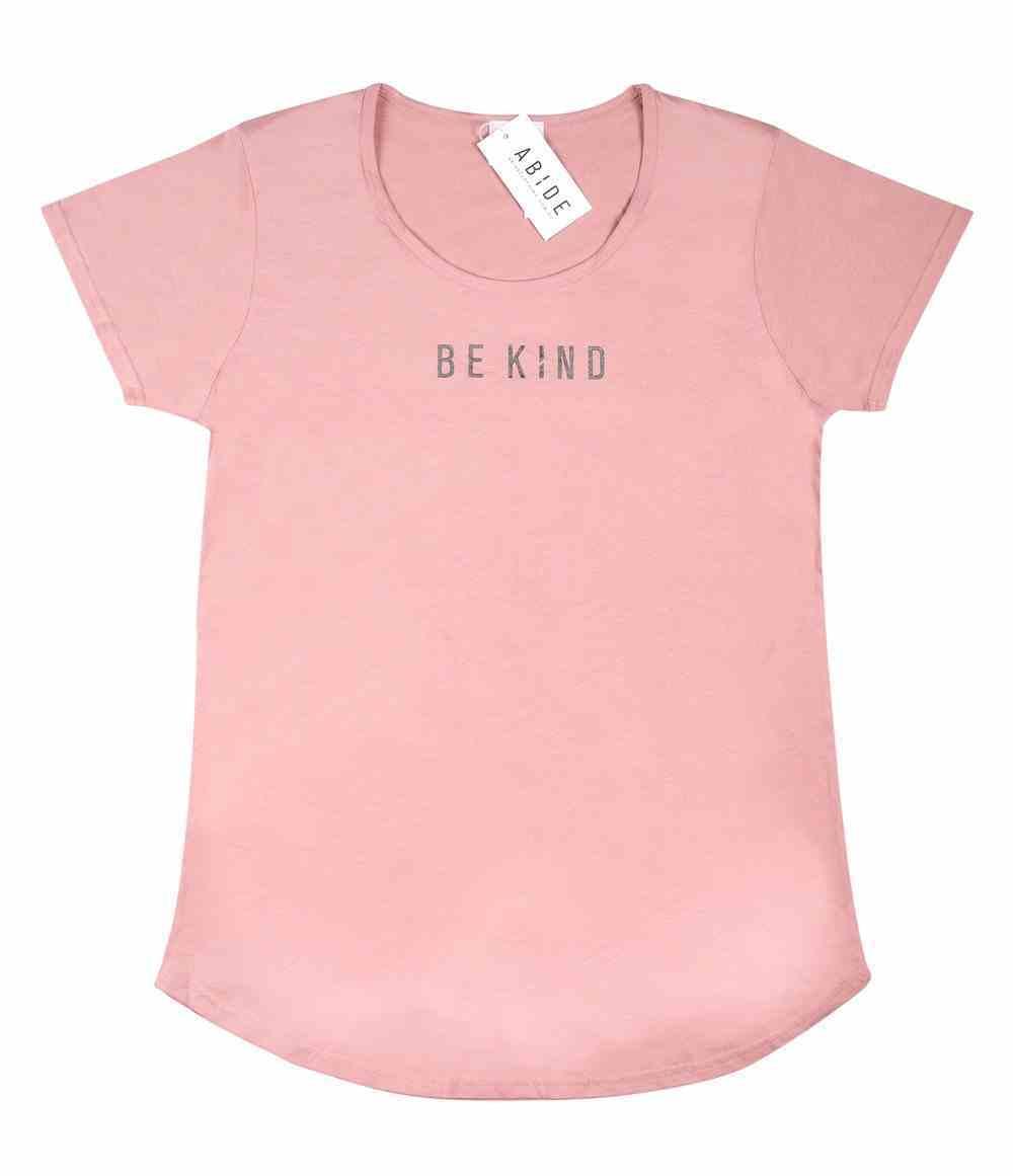 Womens Mali Tee: Be Kind, Xlarge, Rose With Black Metallic Print (Abide T-shirt Apparel Series) Soft Goods