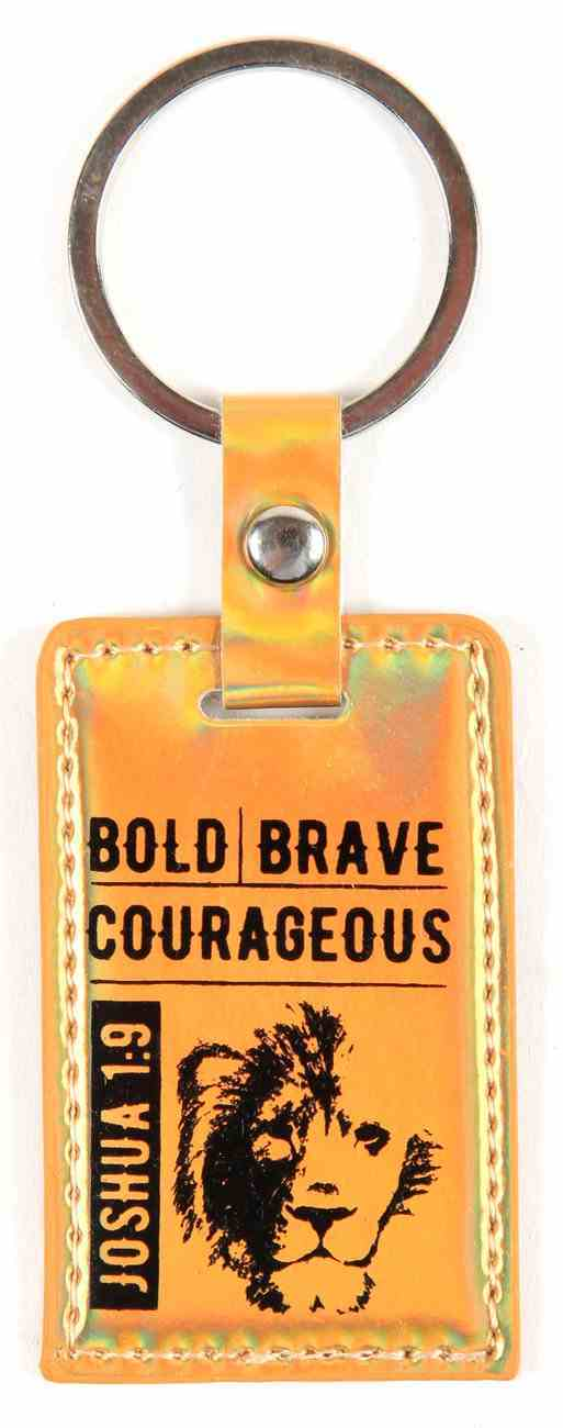 Iridescent Keyring: Bold Brave Courageous, Joshua 1:9 Jewellery