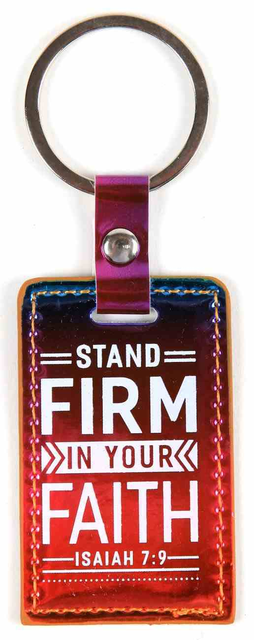 Iridescent Keyring: Stand Firm in Your Faith, Isaiah 7:9 Jewellery