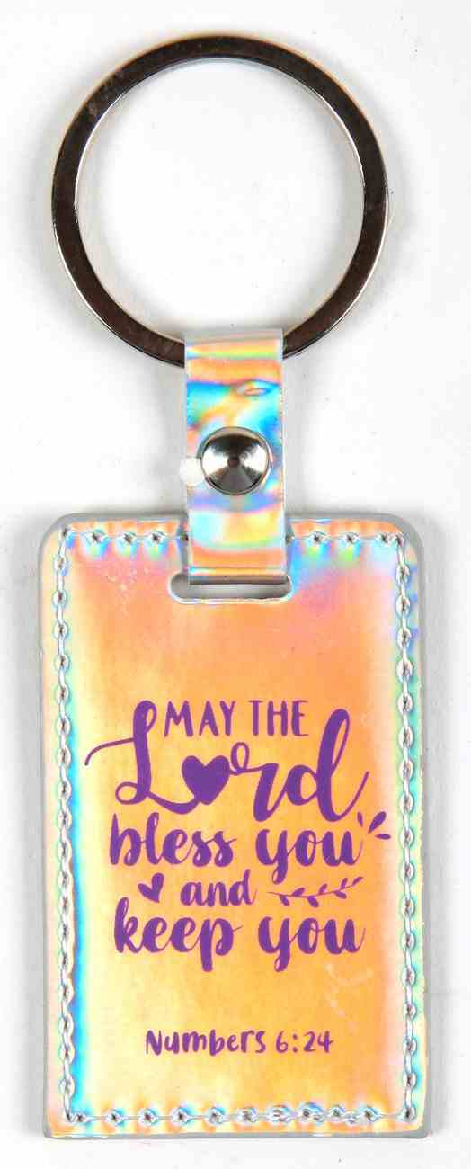 Iridescent Keyring: May the Lord Bless You and Keep You, Numbers 6:24 Jewellery