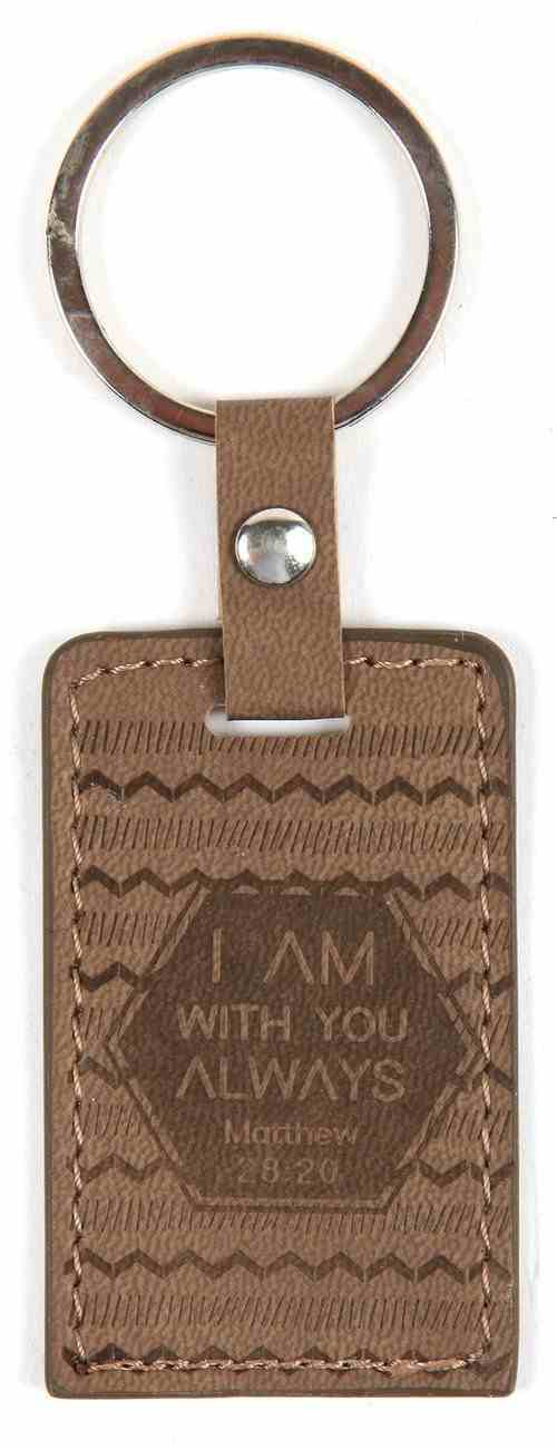 Lux Keyring: I Am With You Always, Matthew 28:20 Jewellery