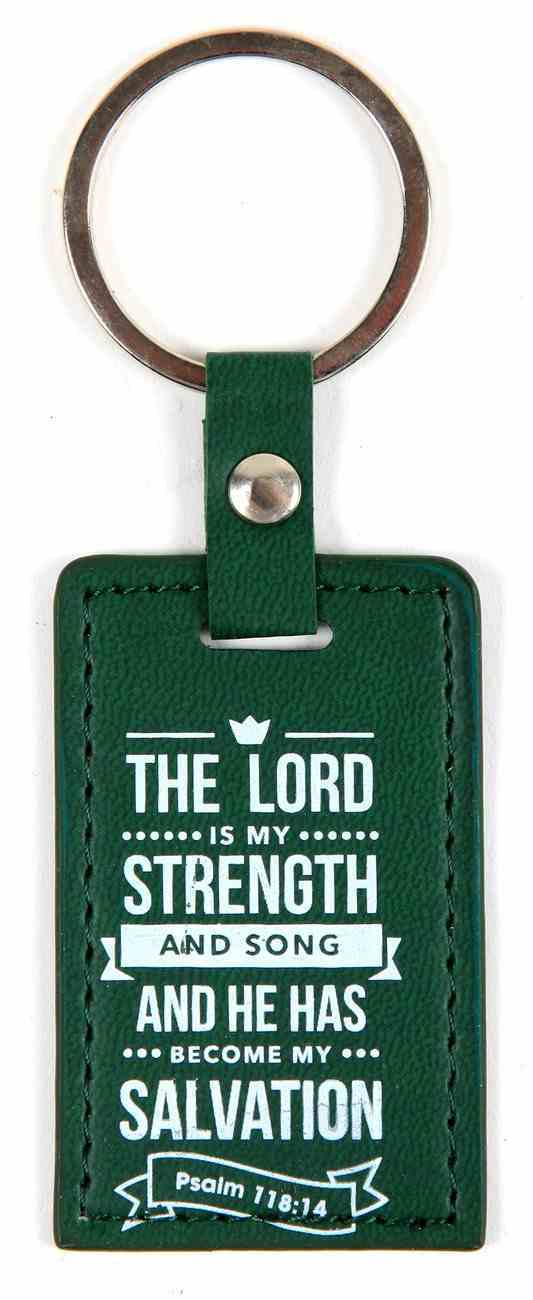 Lux Keyring: The Lord is My Strength, Psalm 118:14 Jewellery