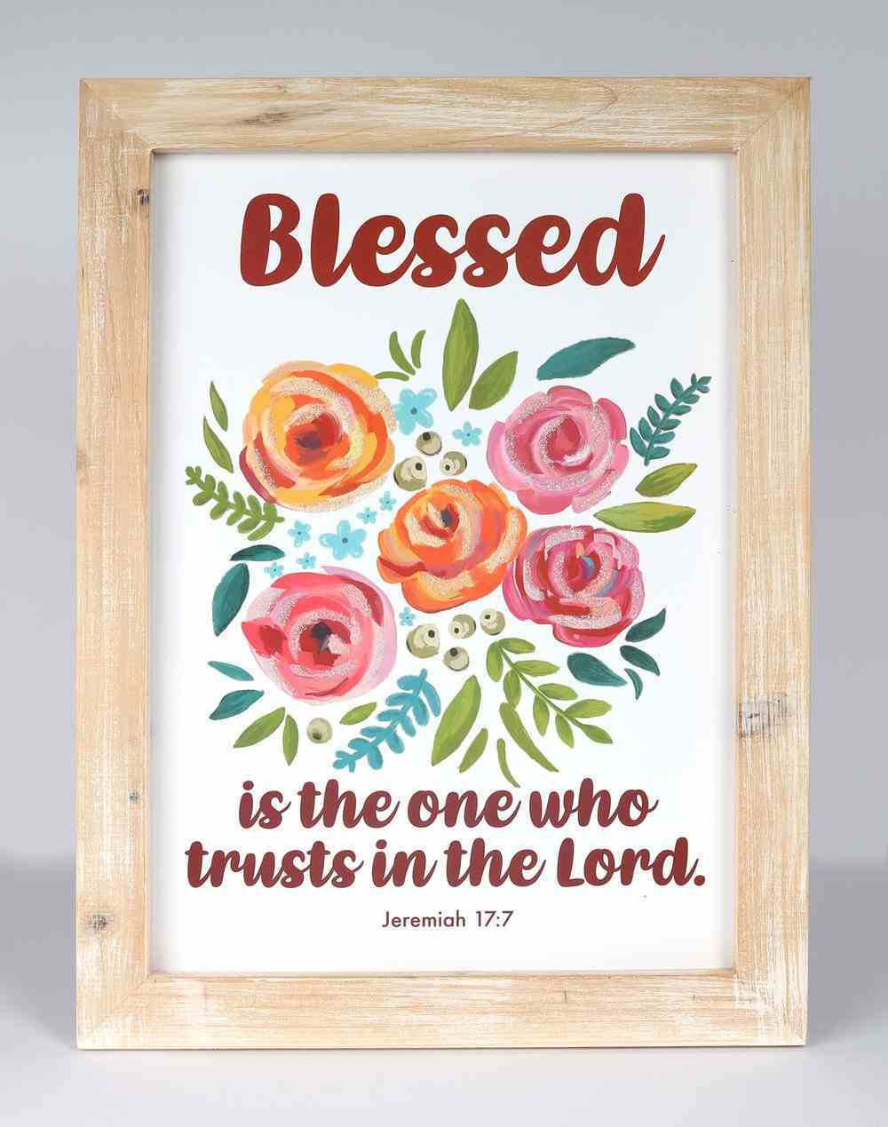 Mdf Wall Art: Blessed is the One Who Trusts in the Lord, Jeremiah 17:7 Plaque