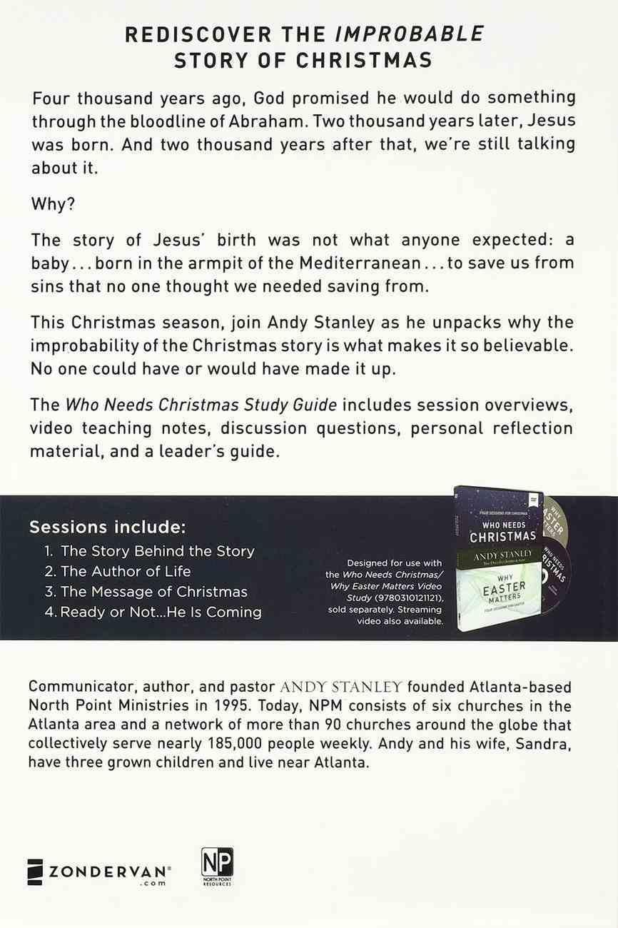 Who Needs Christmas (Study Guide) Paperback