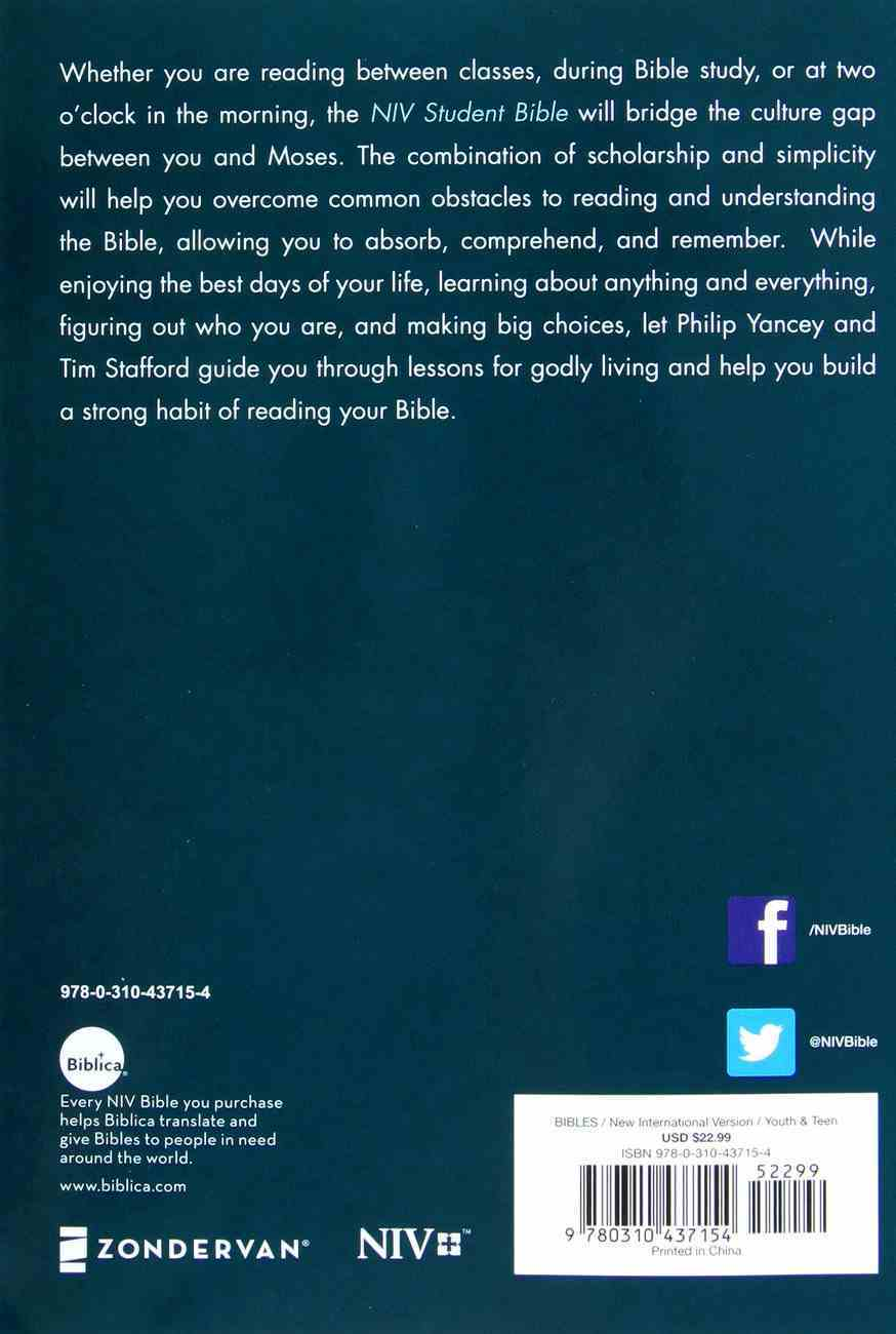 NIV Student Bible Compact (Black Letter Edition) Paperback