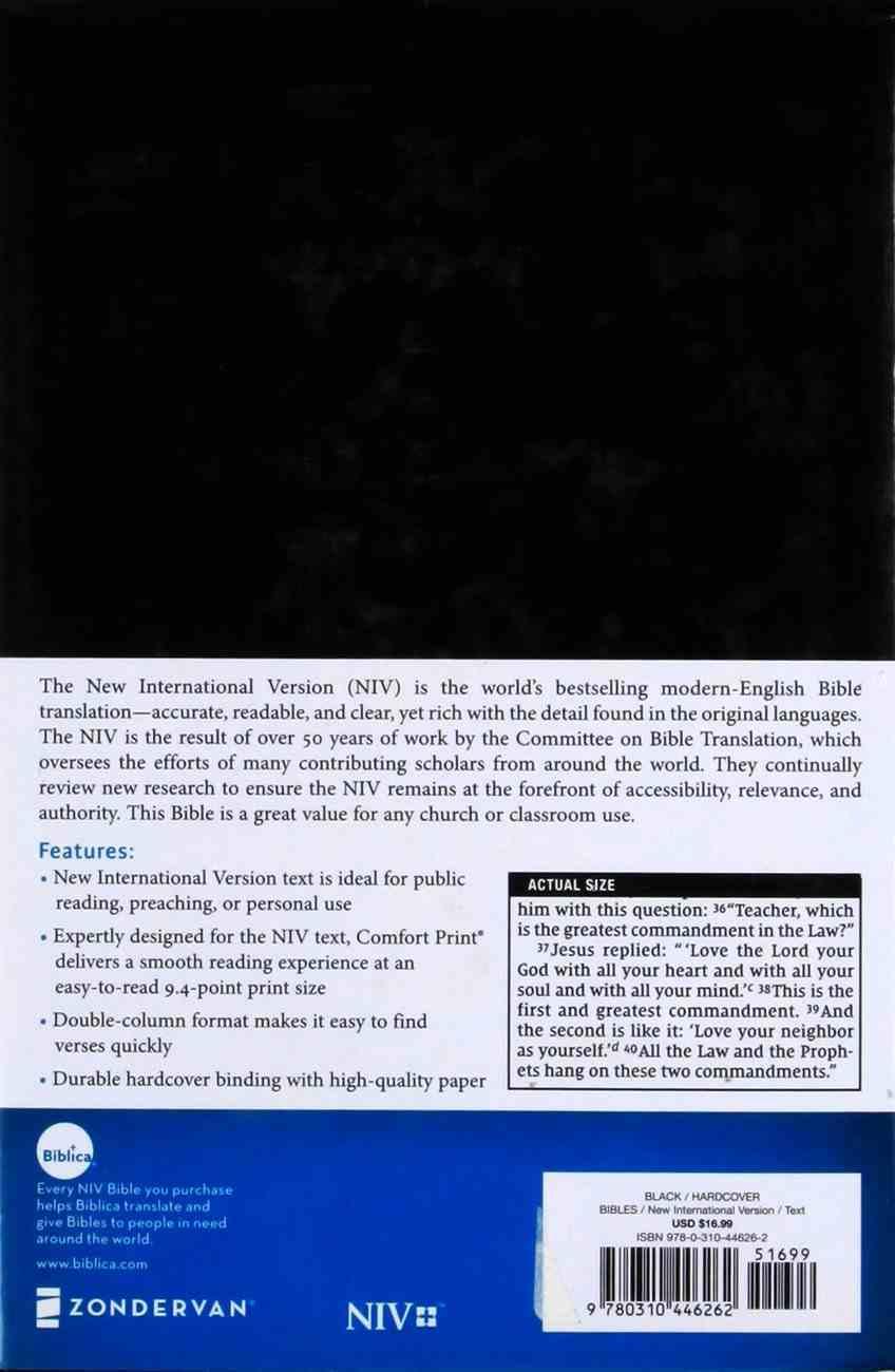 NIV Pew and Worship Bible Black (Black Letter Edition) Hardback