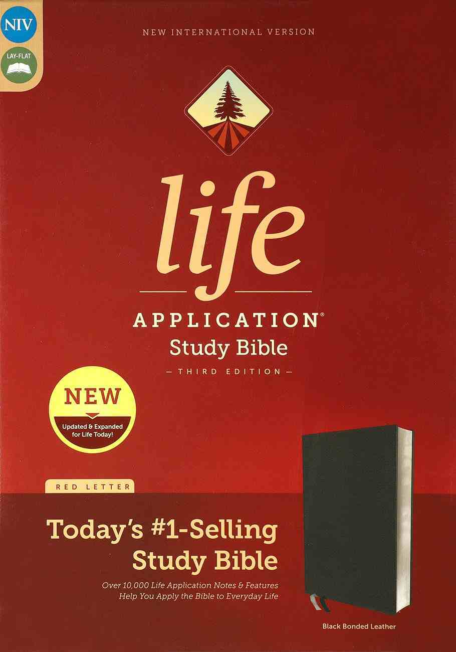 NIV Life Application Study Bible 3rd Edition Black (Red Letter Edition) Bonded Leather