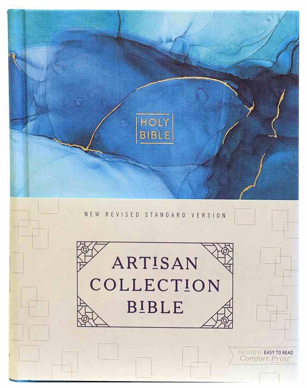 NRSV Artisan Collection Bible Blue Fabric Over Hardback