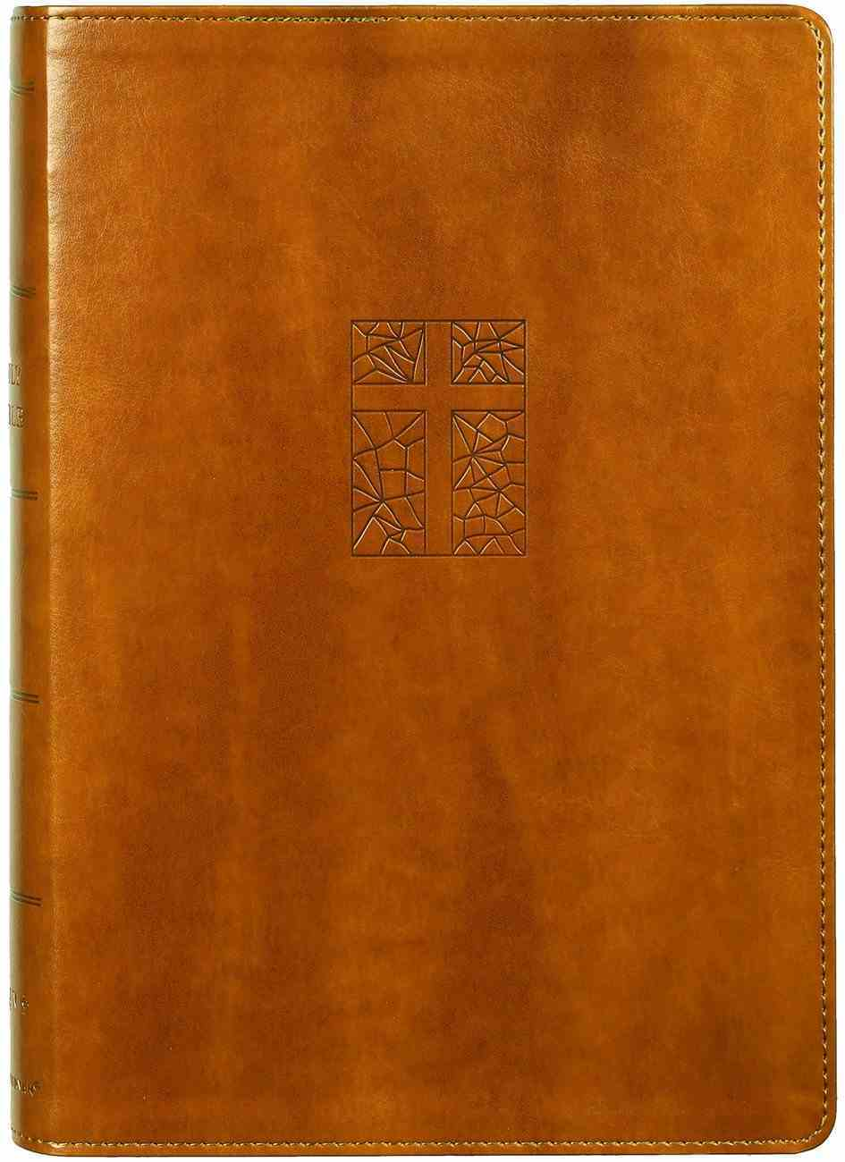 NRSV Single-Column Reference Bible Brown Premium Imitation Leather