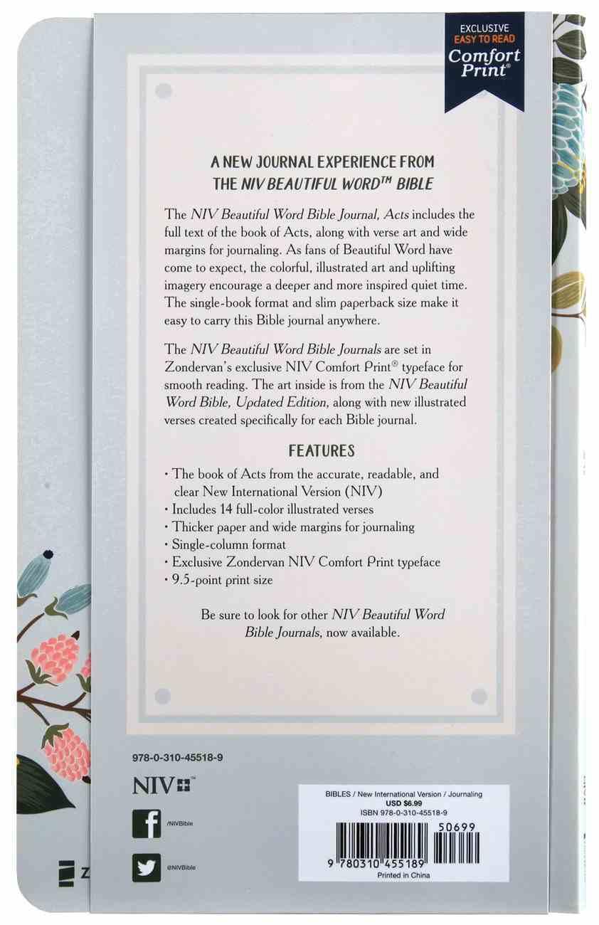 NIV Beautiful Word Bible Journal Acts Paperback
