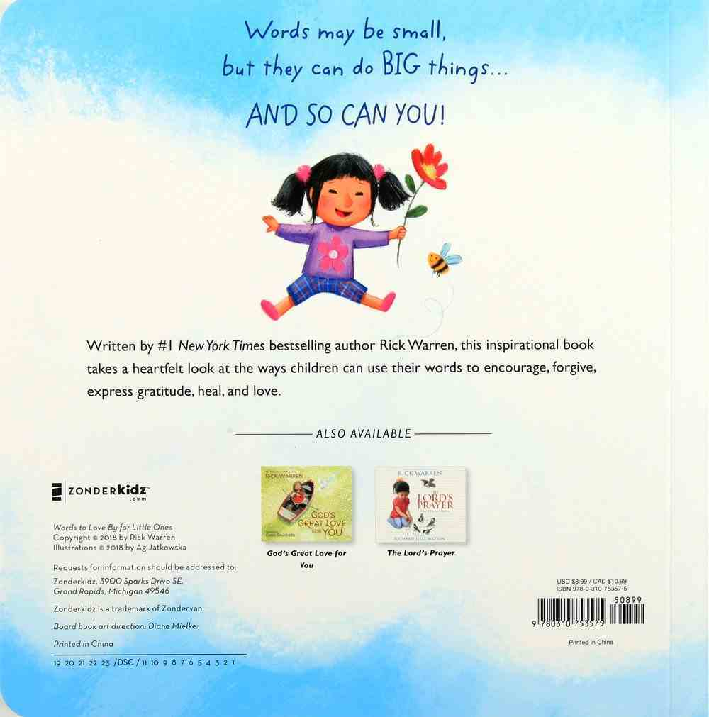 Words to Love By For Little Ones Board Book
