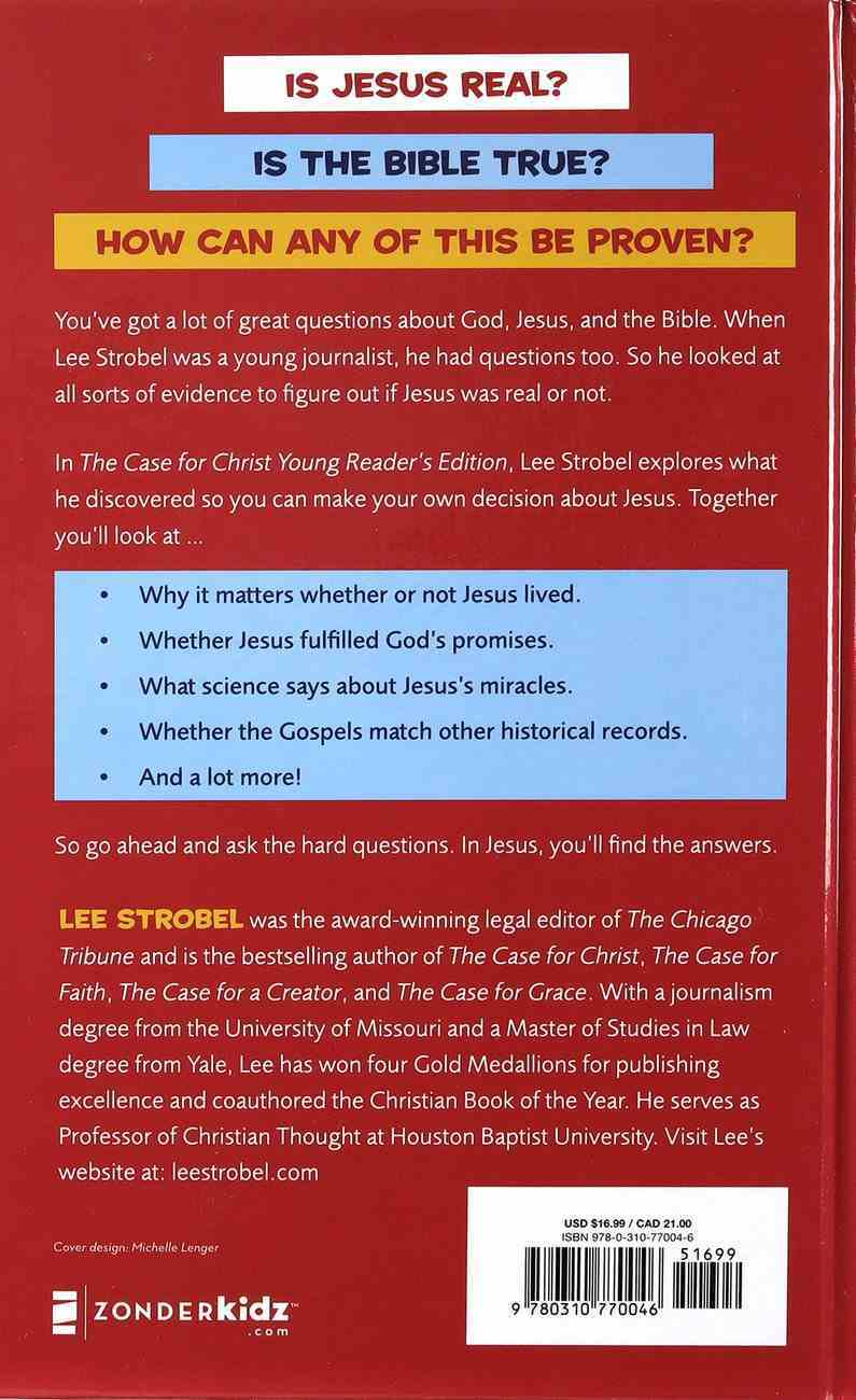 The Case For Christ: Investigating the Toughest Questions About Jesus (Young Reader's Edition) Hardback