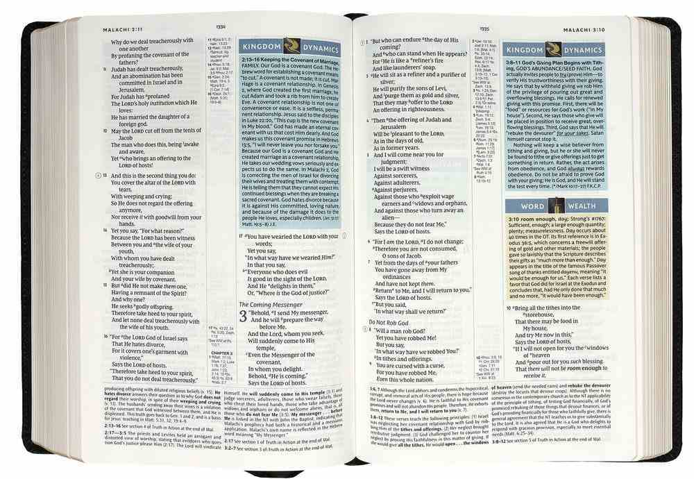 NKJV Spirit-Filled Life Bible Black (Red Letter Edition) (Third Edition) Genuine Leather