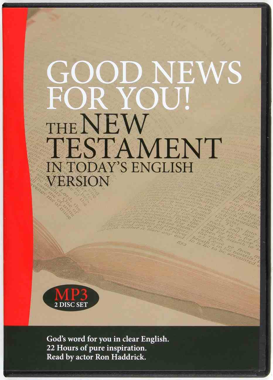 GNB Good News For You! the New Testament in Today's Engligh Version MP3 CD