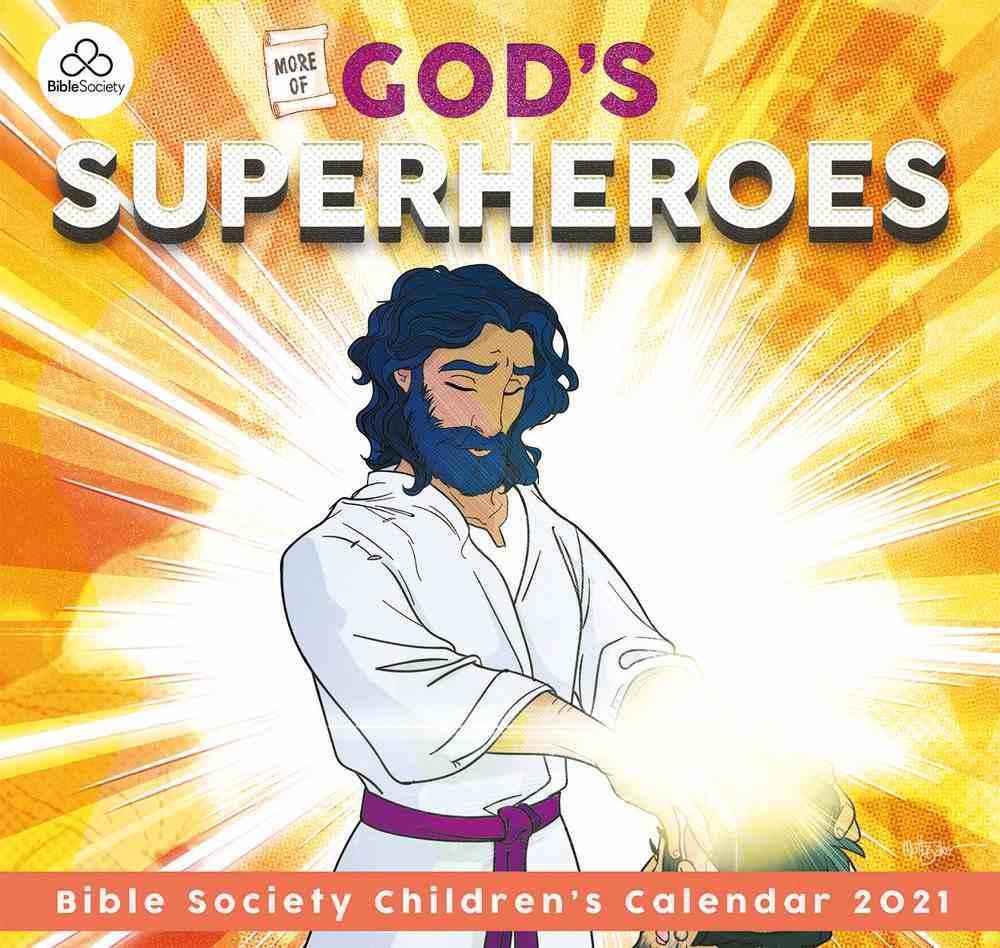 2021 Kids Calendar: God's Superheroes Calendar