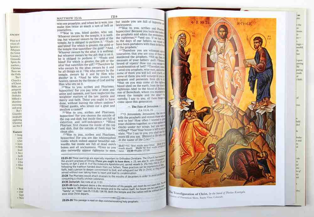 NKJV Orthodox Study Bible (Black Letter Edition) Hardback