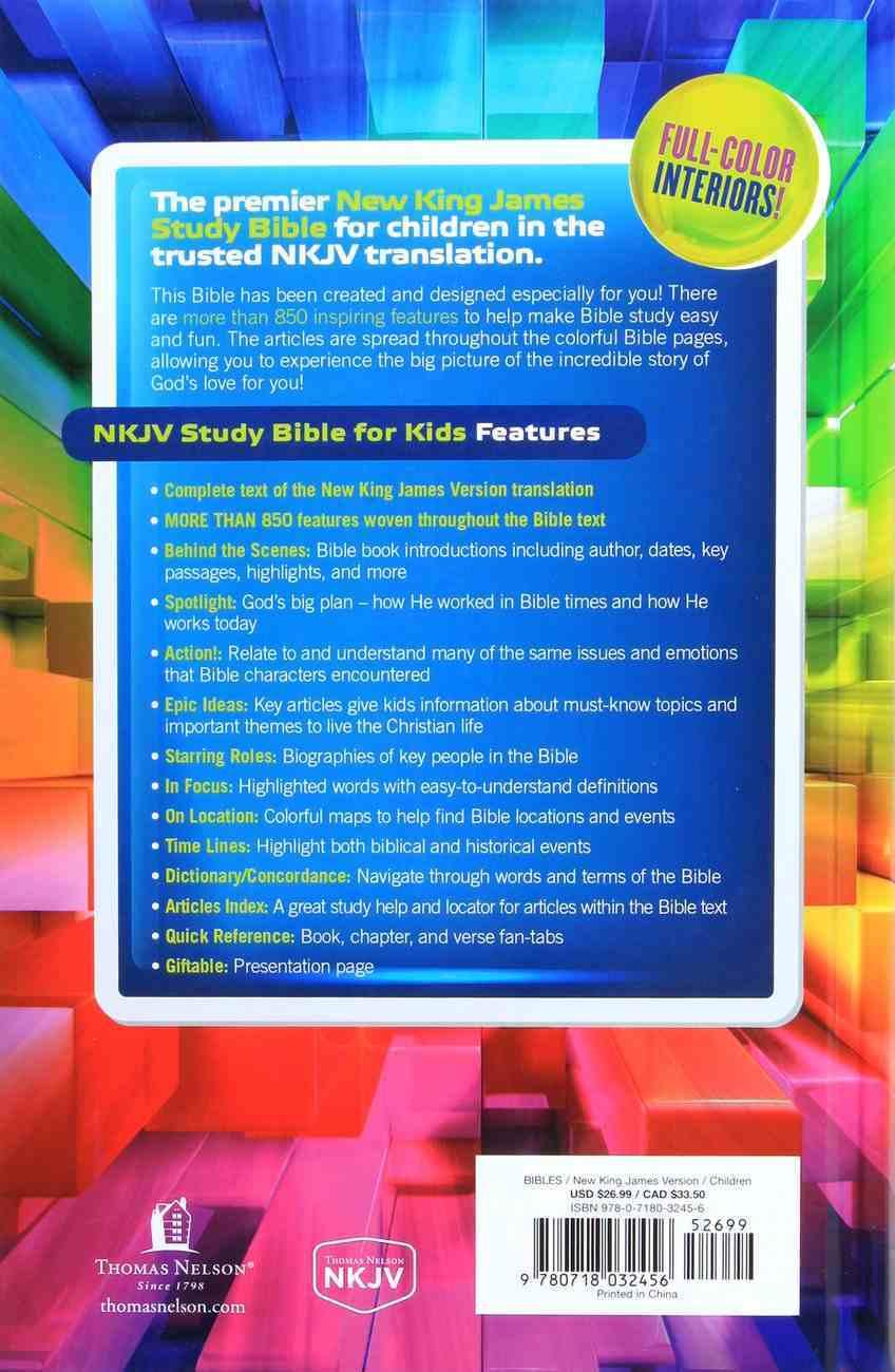 NKJV Study Bible For Kids (Black Letter Edition) Hardback