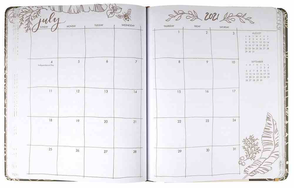 2021 12-Month Diary/Planner: Gracelaced Hardback