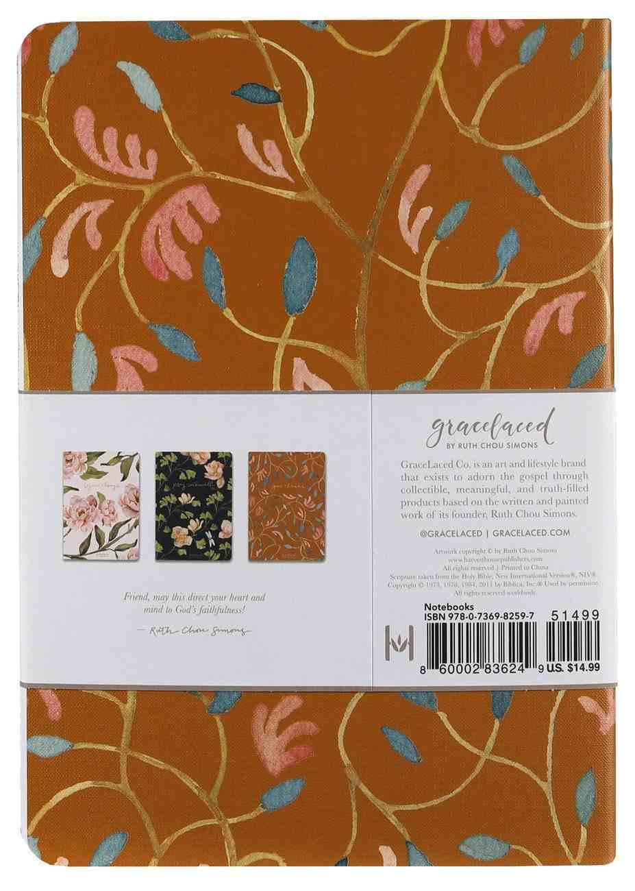 Notebook: Gracelaced: Rejoice, Pray, Give (Set Of 3) Stationery