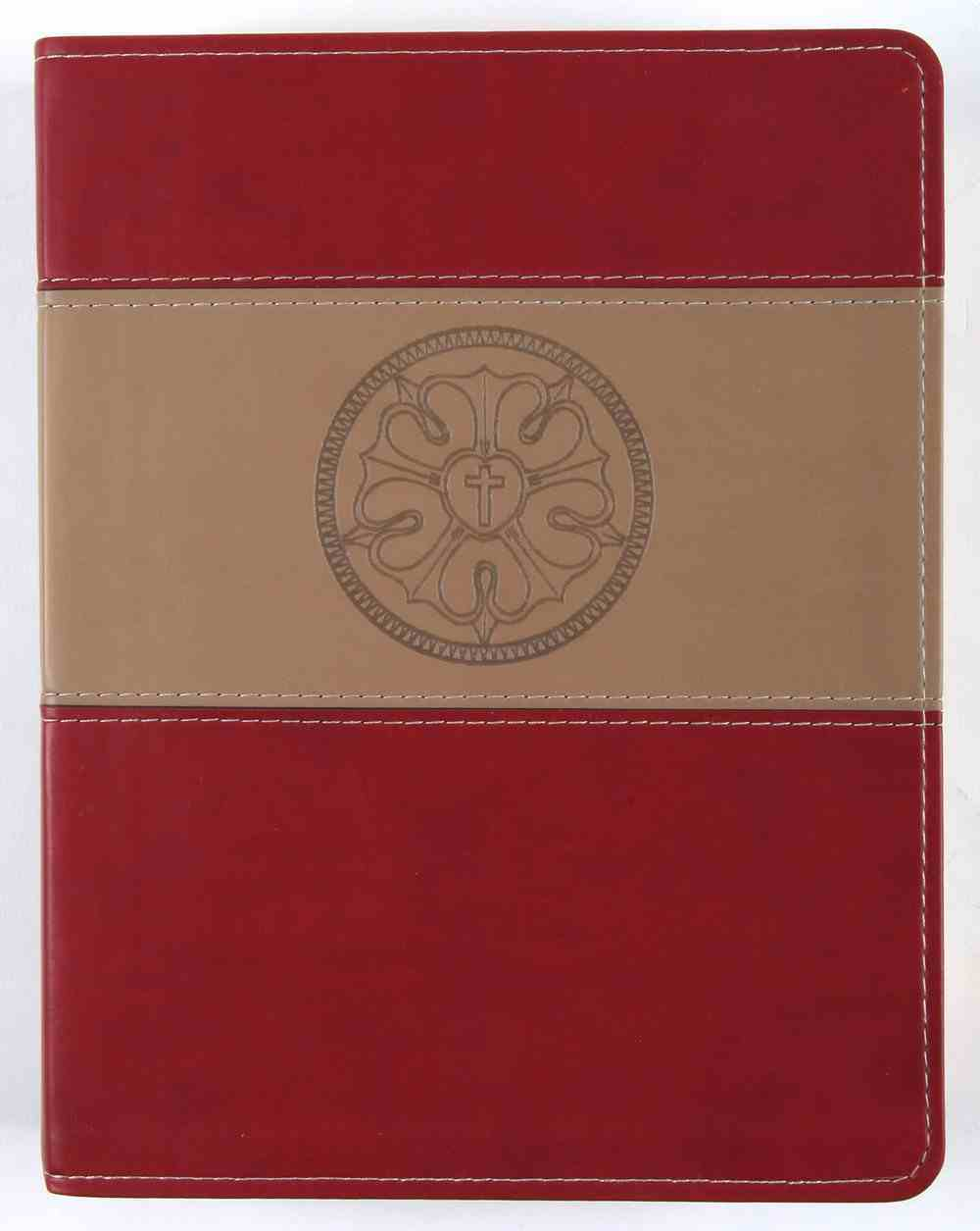 ESV Lutheran Study Bible, the Burgundy Luther's Rose Imitation Leather