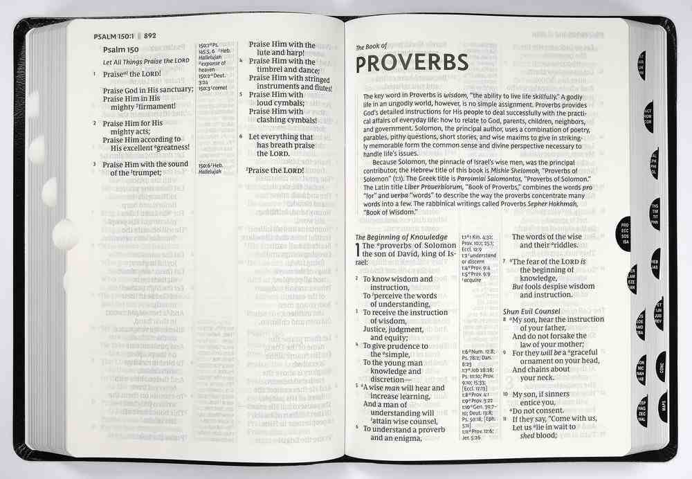 NKJV Reference Bible Giant Print Black Indexed (Red Letter Edition) Imitation Leather