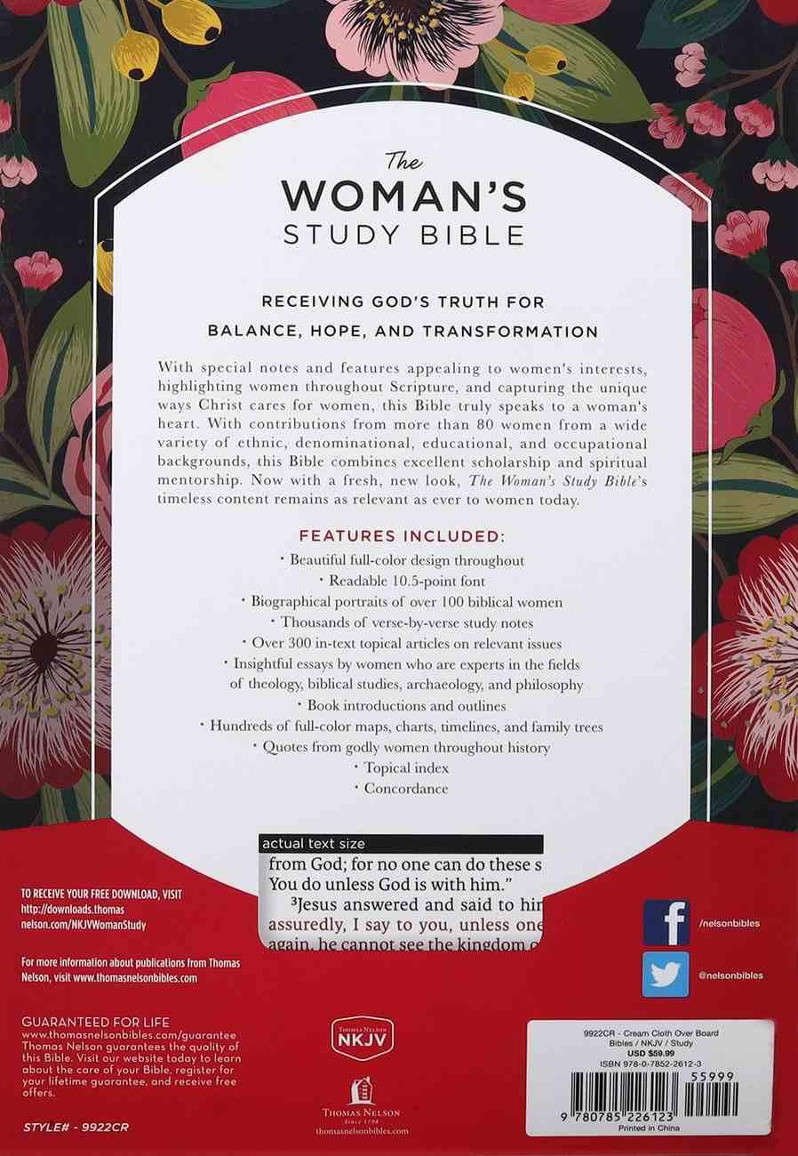 NKJV the Woman's Study Bible Cream (Comfort Print) Fabric Over Hardback