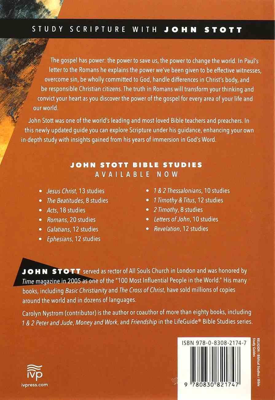 Romans: Encountering the Gospel's Power (John Stott Bible Studies Series) Paperback