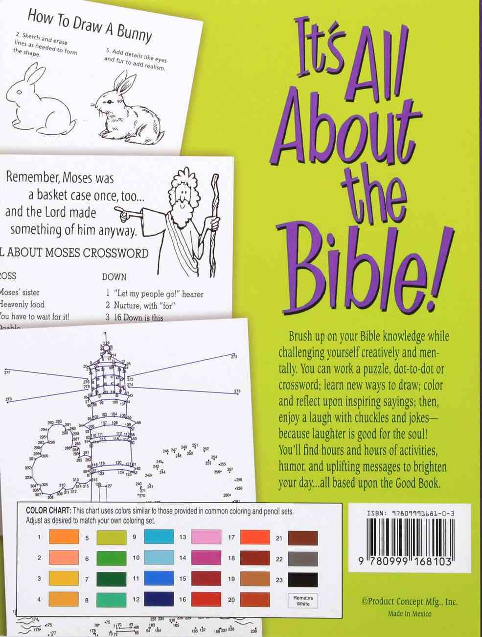 It's All About the Bible!: Puzzles, Fun Facts, Coloring, How-To-Draw, Dot-To-Dot, & More Paperback