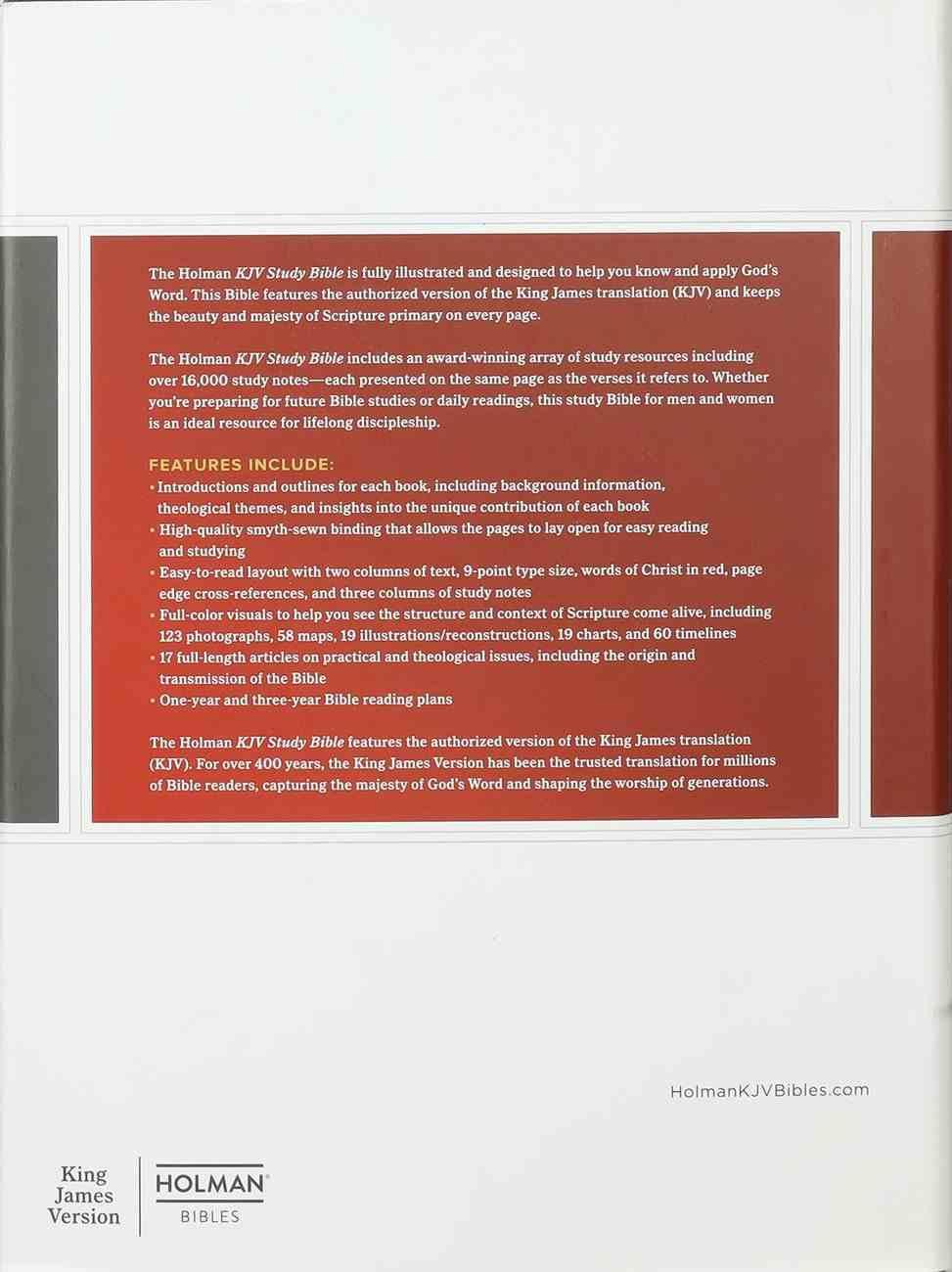 KJV Study Bible Full-Color Charcoal Fabric Over Hardback