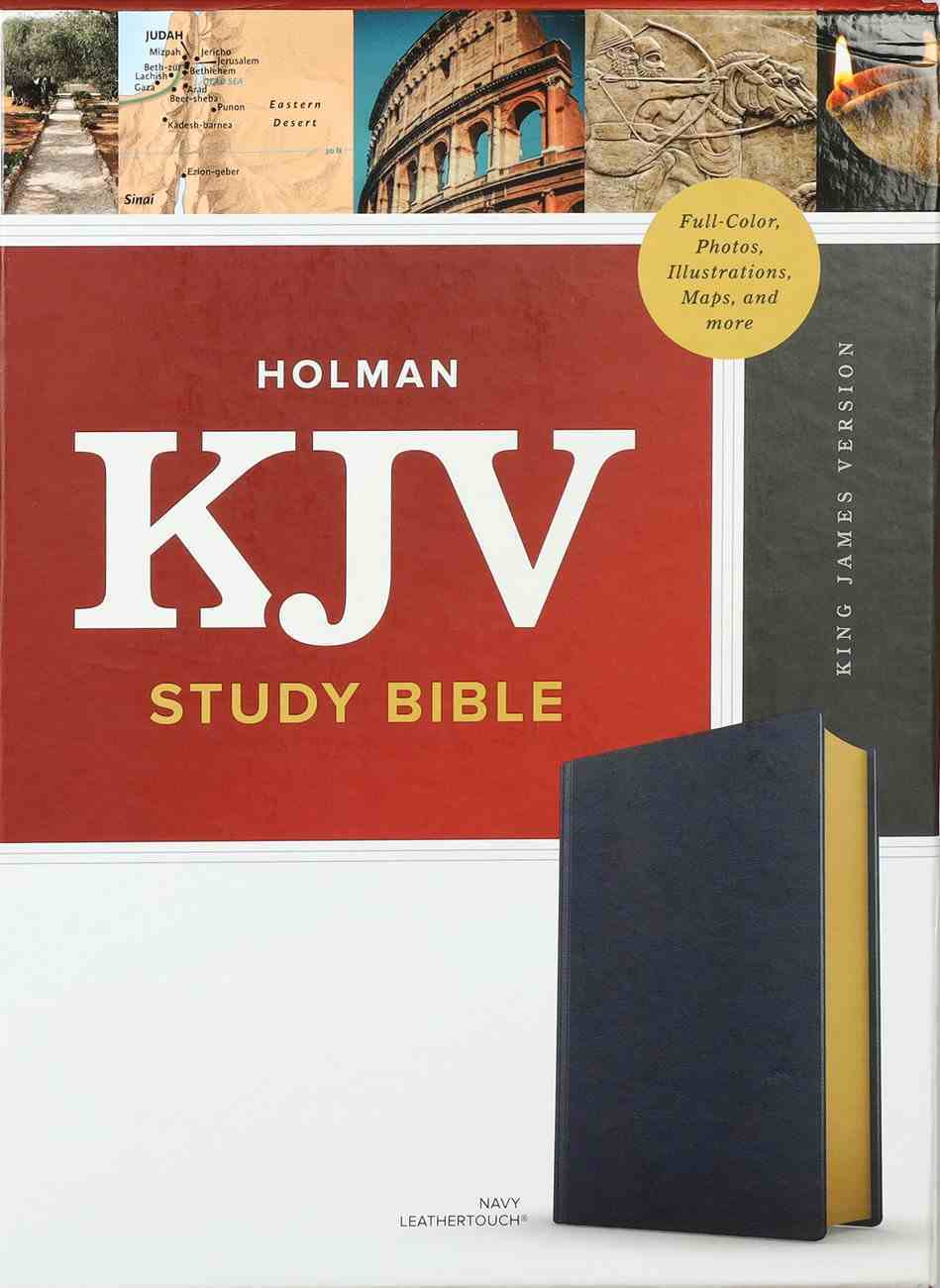 KJV Study Bible Full-Color Navy Imitation Leather