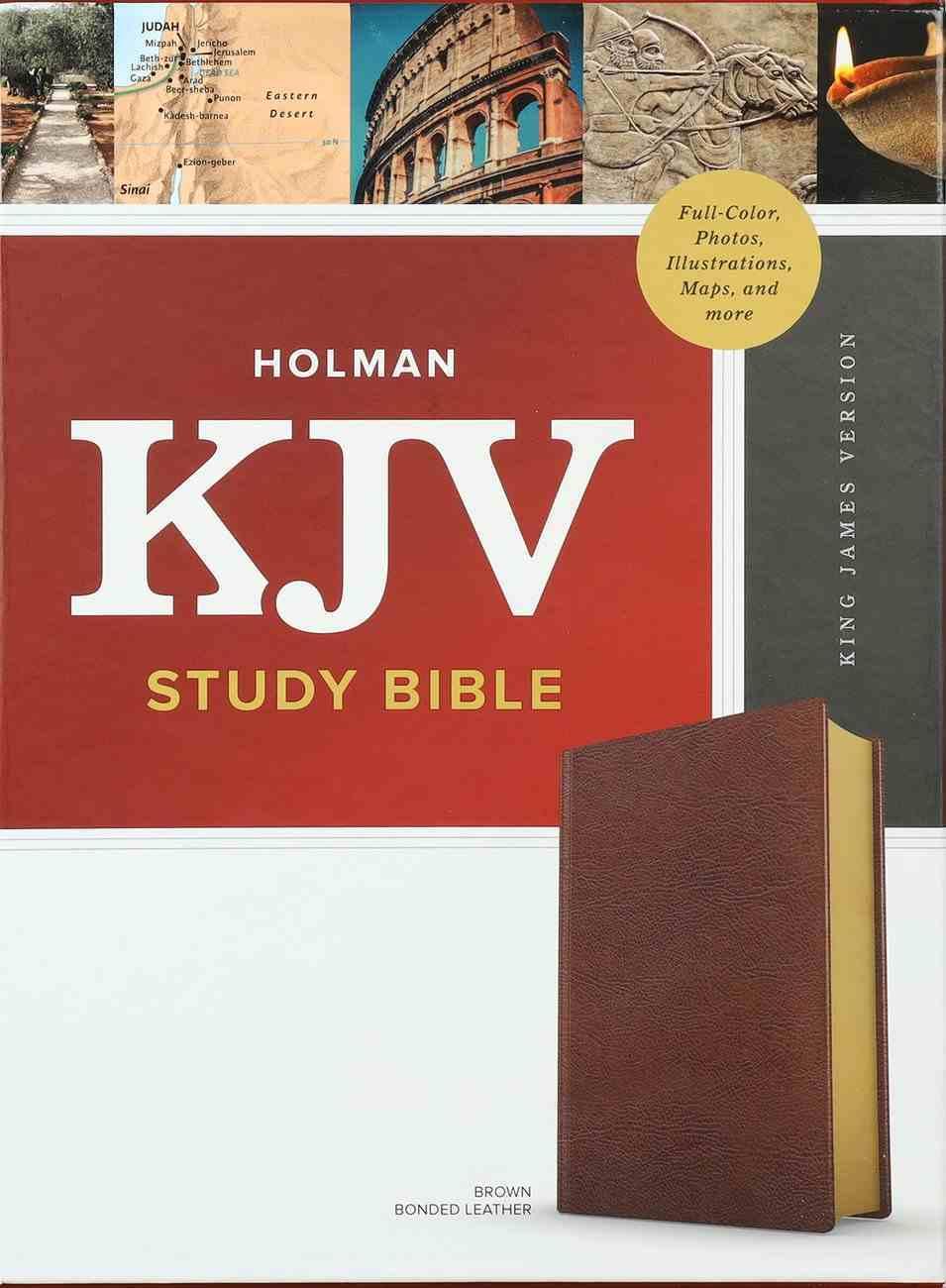 KJV Study Bible Full-Color Brown Bonded Leather