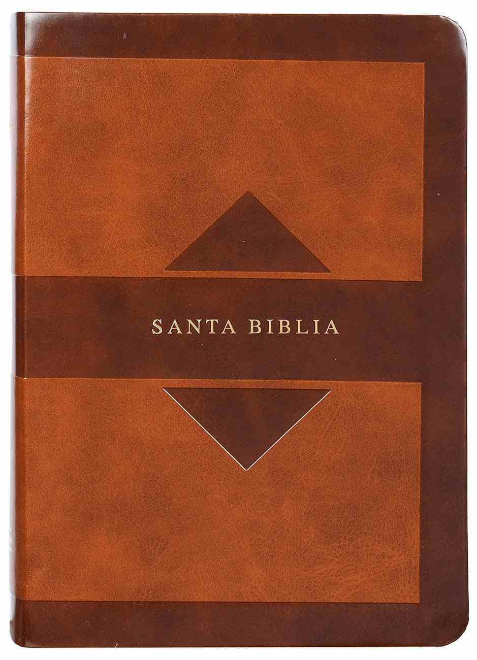 Rvr 1960 Hand Size Giant Print Spanish Bible With Holy Land Images Brown (Red Letter Edition) Imitation Leather