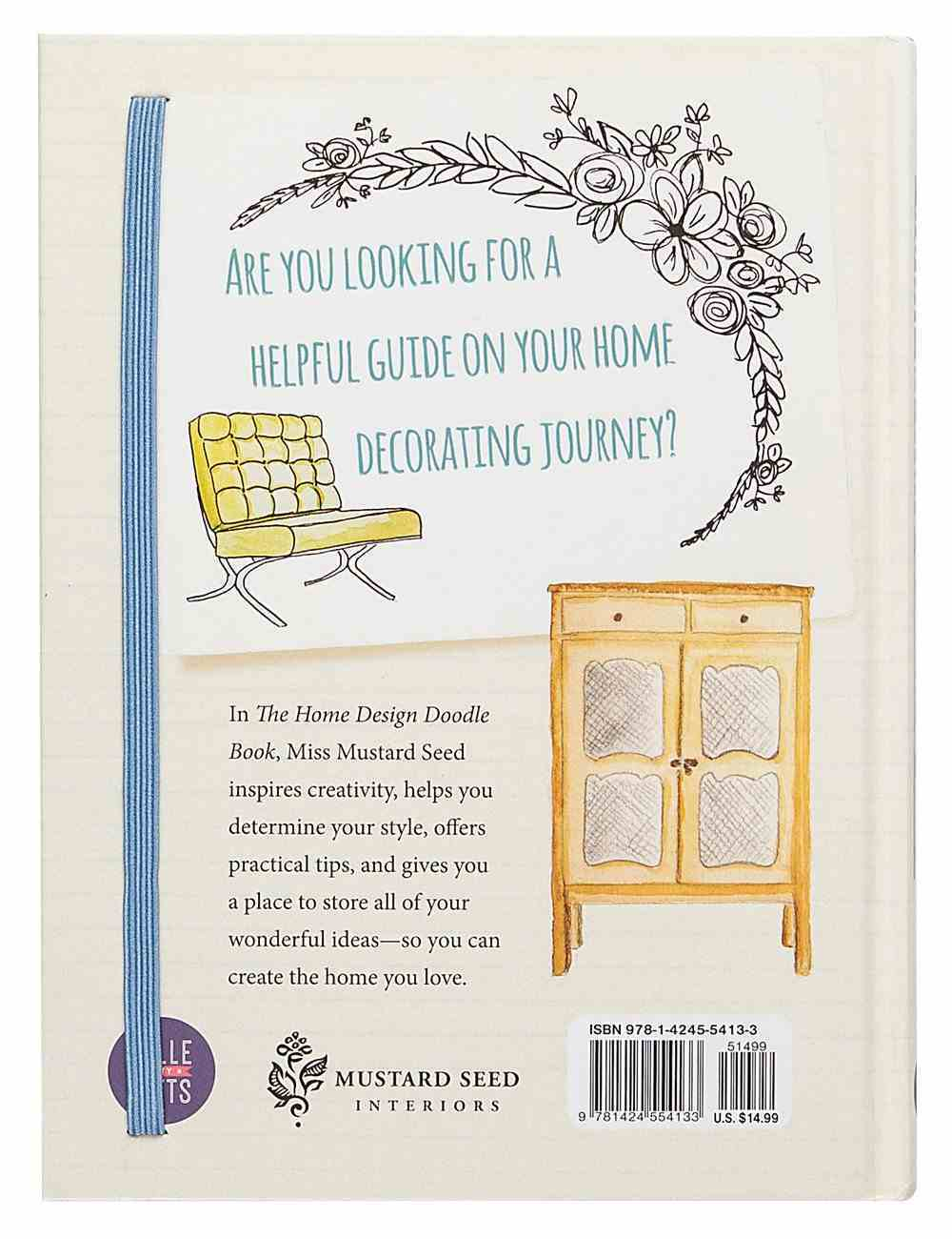 The Home Design Doodle Book: Unleash Your Inner Designer Hardback