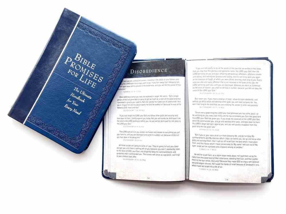 Bible Promises For Graduates (Navy) Imitation Leather