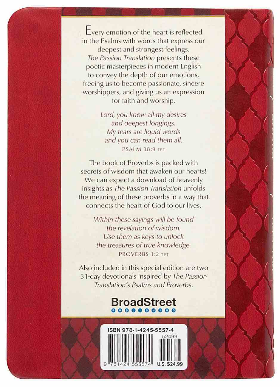 TPT the Psalms & Proverbs (2 In 1 Collection With Devotions) Imitation Leather
