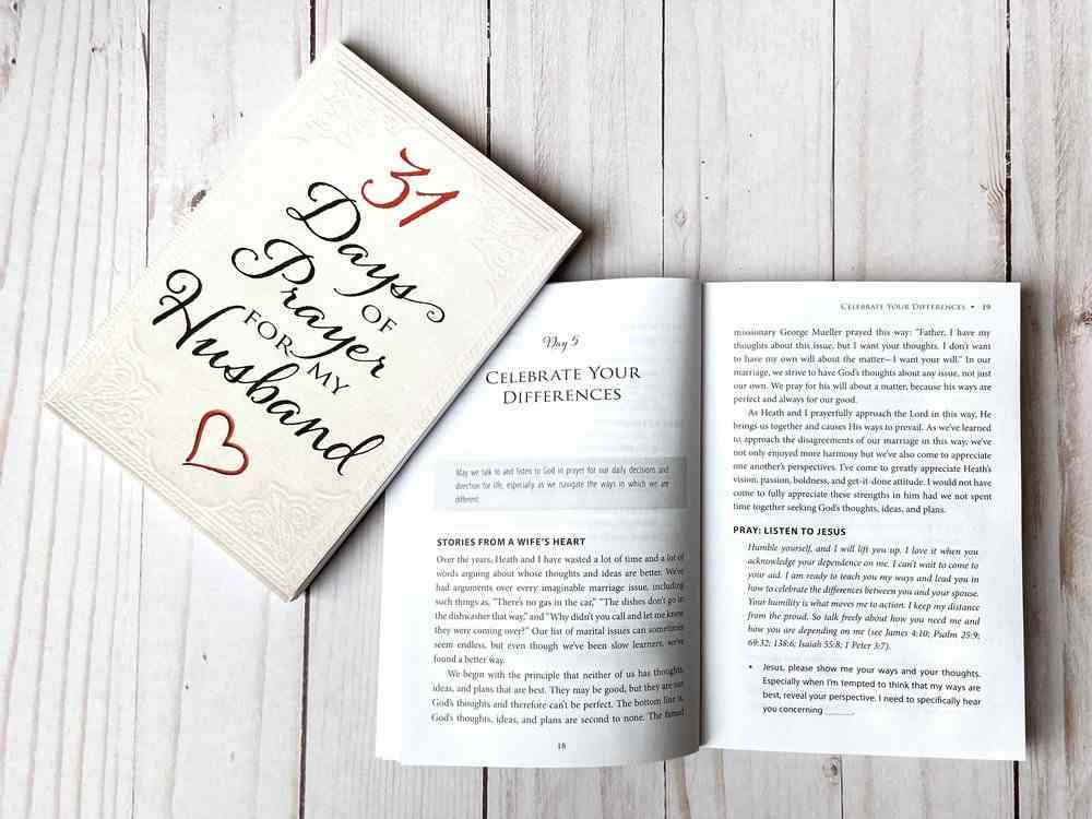 31 Days of Prayer For My Husband Paperback