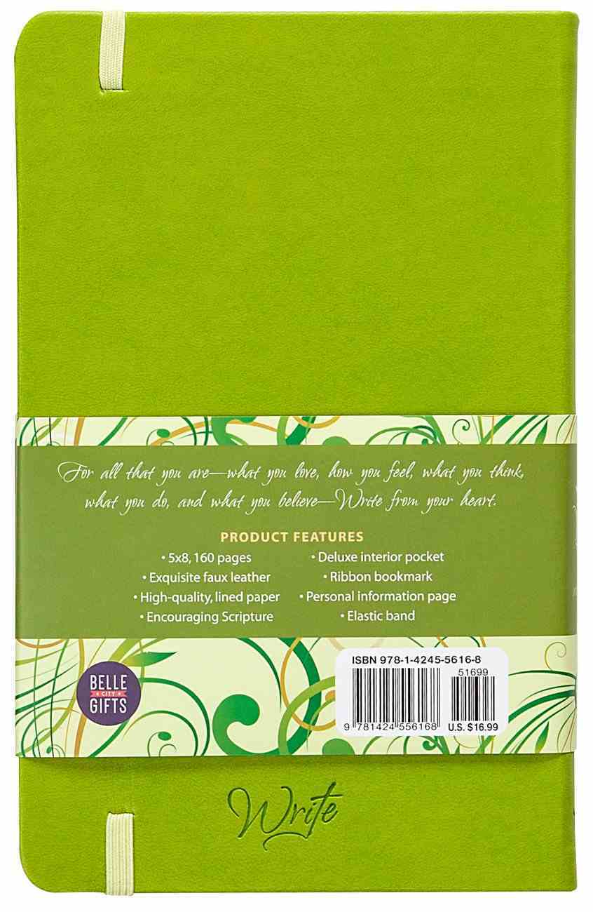 Write Journal: From the Heart, (Spring Green) Imitation Leather