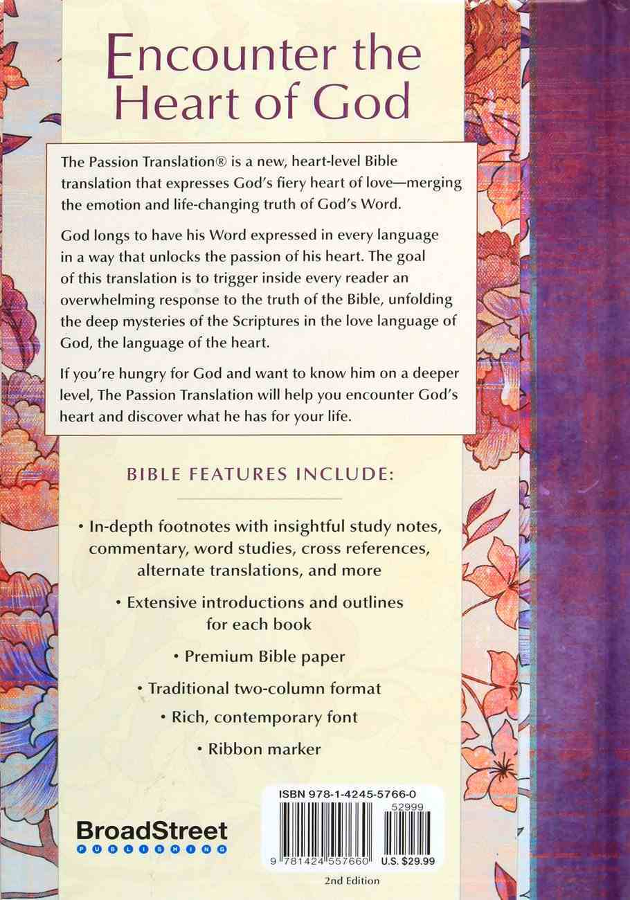 TPT New Testament Peony (2nd Edition) (Black Letter Edition) (With Psalms Proverbs And Song Of Songs) Hardback