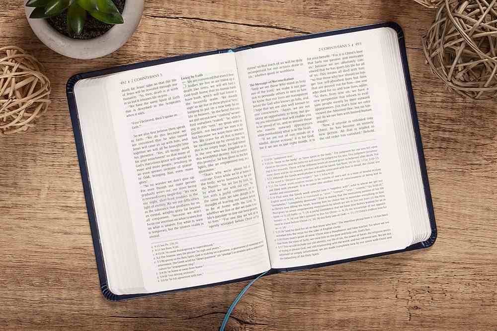TPT New Testament Compact Navy With Psalms Proverbs & Song of Songs Imitation Leather