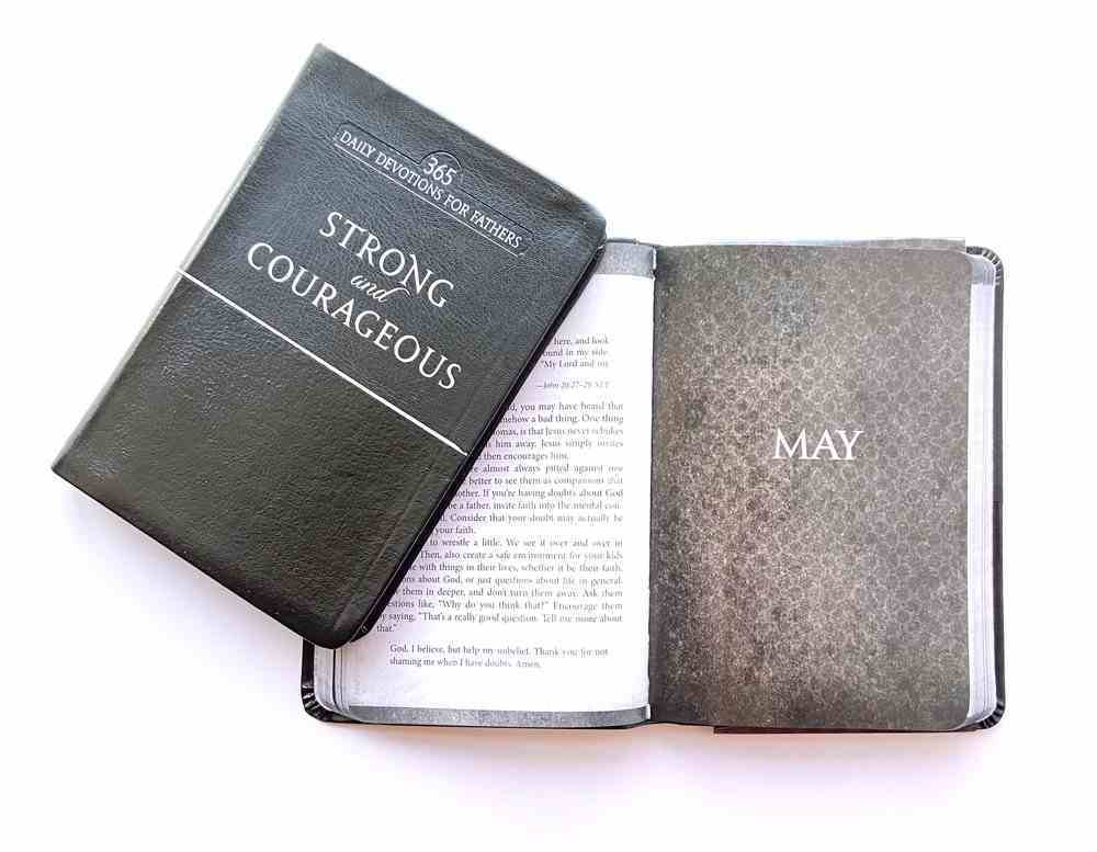 Strong and Courageous: 365 Daily Devotions For Fathers (Black) Imitation Leather