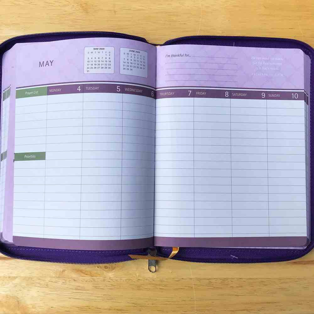 2020 16-Month Weekly Diary/Planner: He Has Made All Things Beautiful in His Time, Purple Ecc 3:11 (Faux Ziparound) Imitation Leather