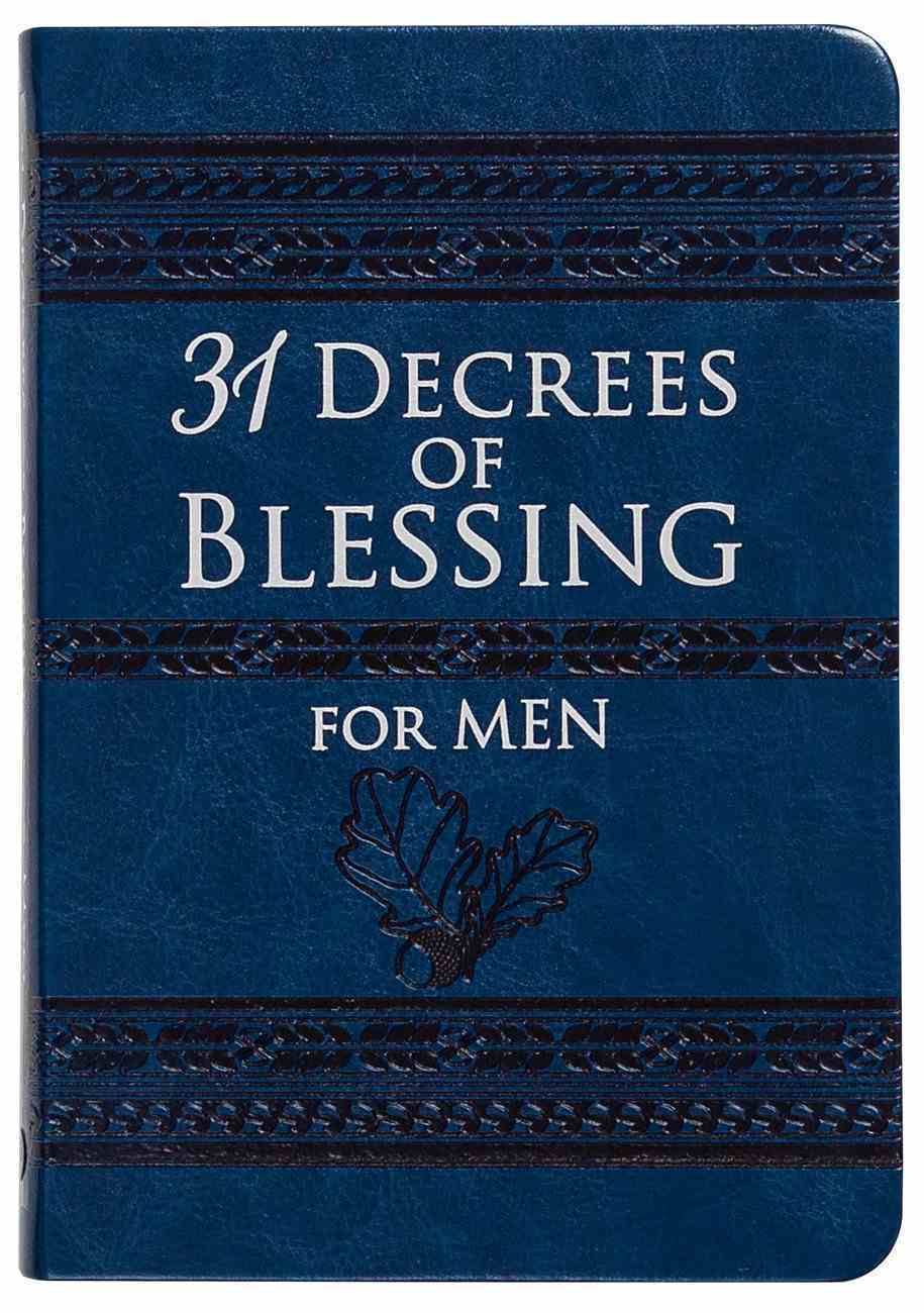 31 Decrees of Blessing For Men Imitation Leather
