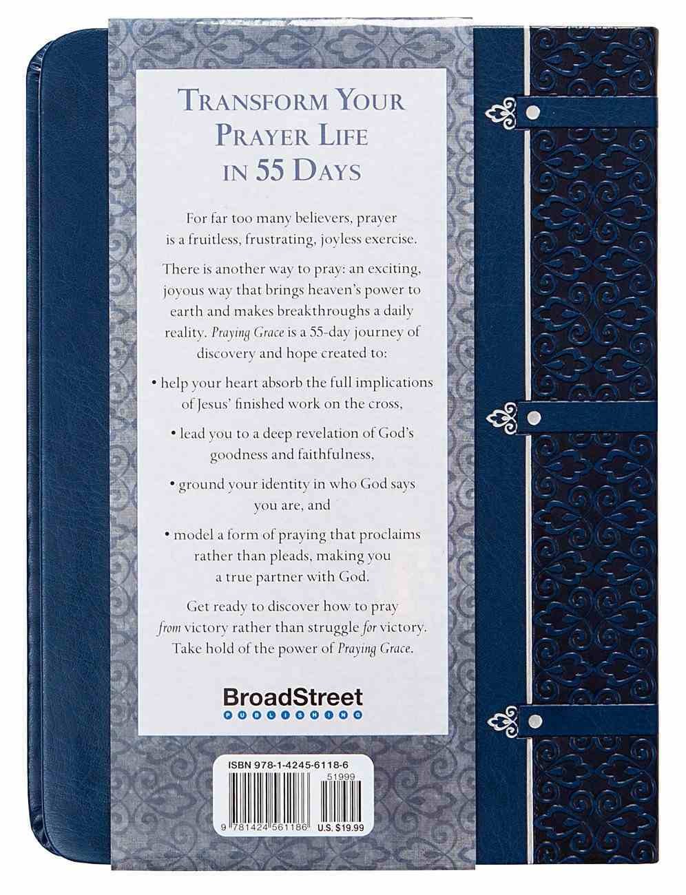 Praying Grace: 55 Meditations & Declarations on the Finished Work of Christ (Gift Edition) Imitation Leather
