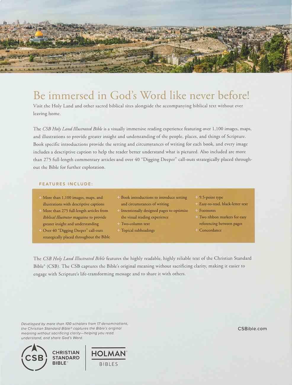 CSB Holy Land Illustrated Bible British Tan Imitation Leather