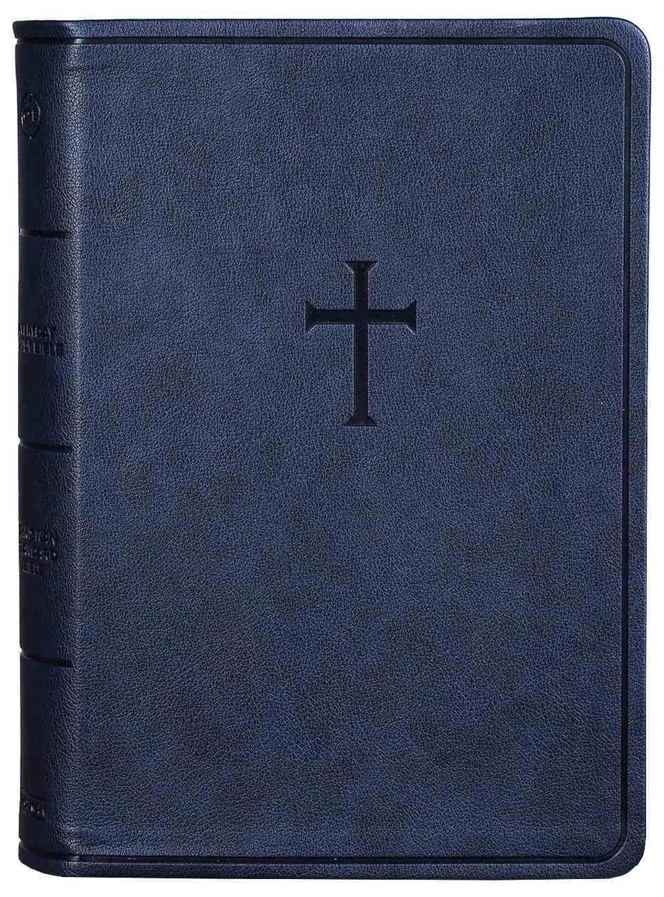 CSB Everyday Study Bible Navy Cross Imitation Leather