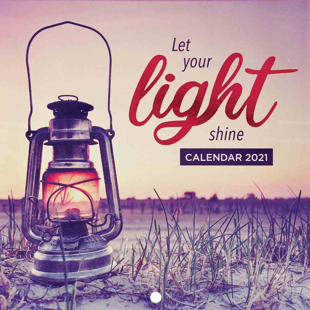 2021 12-Month Small Calendar: Let Your Light Shine Calendar
